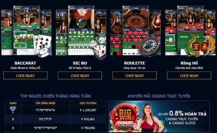 cá cược casino với đa dạng trò chơi hấp dẫn