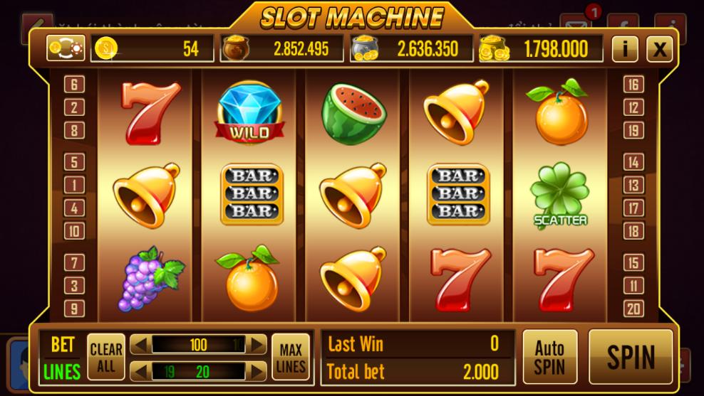 Slot game rất đa dạng đường cược